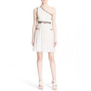 NWT Diane Von Furstenberg One Shoulder Silk Dress